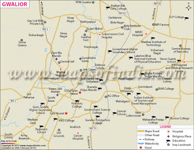 Gwalior Map