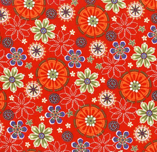 Designs of colorful flowers for fabric