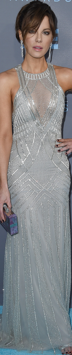 Kate Beckinsale in Monique Lhullier 2016 Critics' Choice Awards
