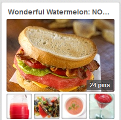 Visit our Watermelon Pinterest Board, for summertime cool down treats!