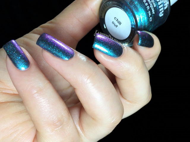 Steel My Heart Is A Co Greyed Out Blue Purple Gold Multichrome Shimmer Mostly On He Nails 3 Thin Coats No Topcoat
