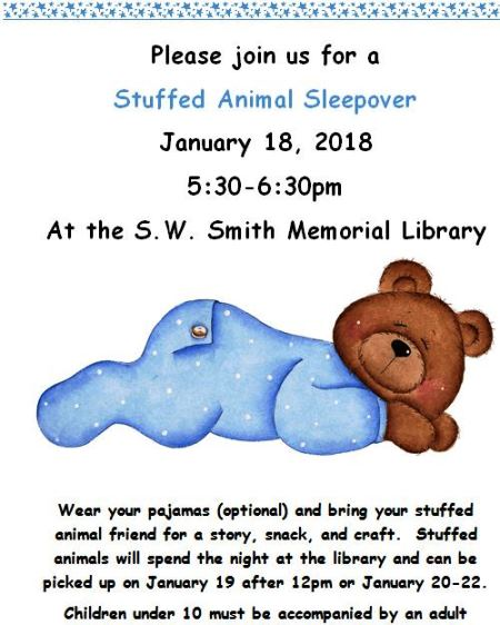 1-18 Stuffed Animal Sleepover