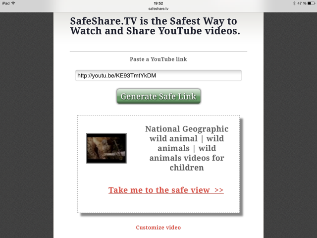 SafeShare.TV safe link