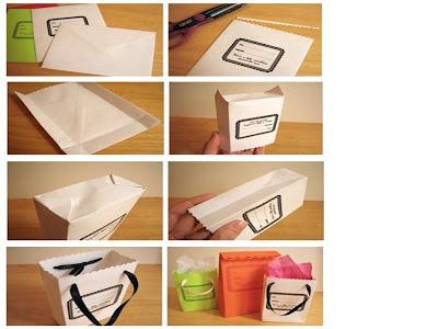Ngel ecol gico como hacer bolsas de papel - Hacer bolsas de papel para regalo ...