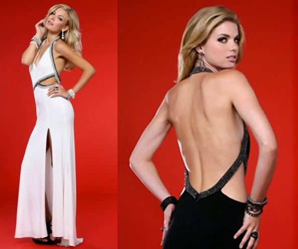 Long sexy dress with open back
