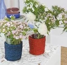 Como hacer de un vaso un florero