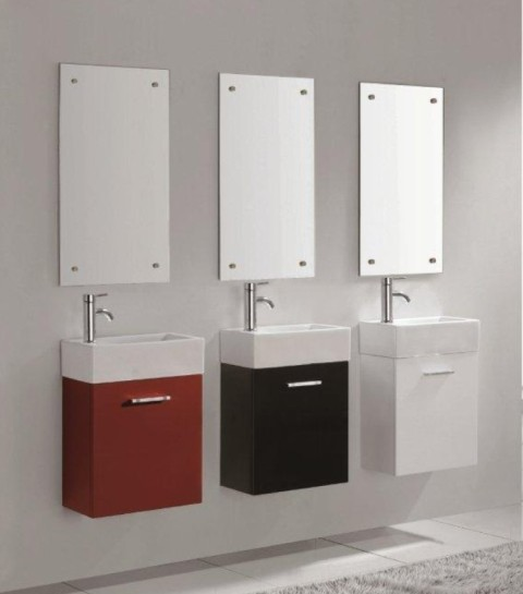 Lille   Wall Hung Vanity Also Available In Red, Black Or White