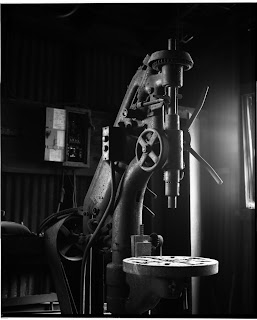 Drill Press in Black and White - Photography