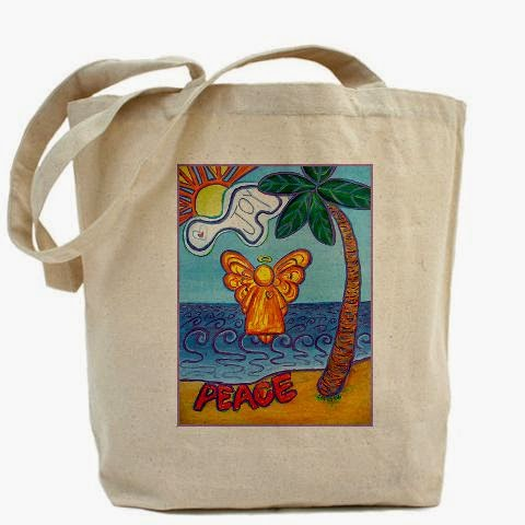 Beach Angel Tote Bag