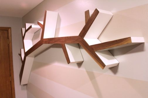 Project denneler beautiful basement branch for Tree of life bookshelf