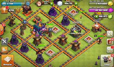 Clash of Clans Mod/Hack APK Thunderbolt Server Update Oktober 2015