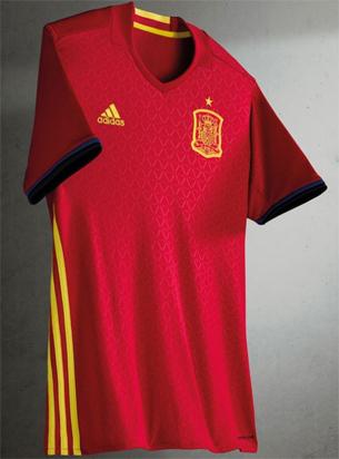 camiseta oficial selección española primera equipación Eurocopa 2016