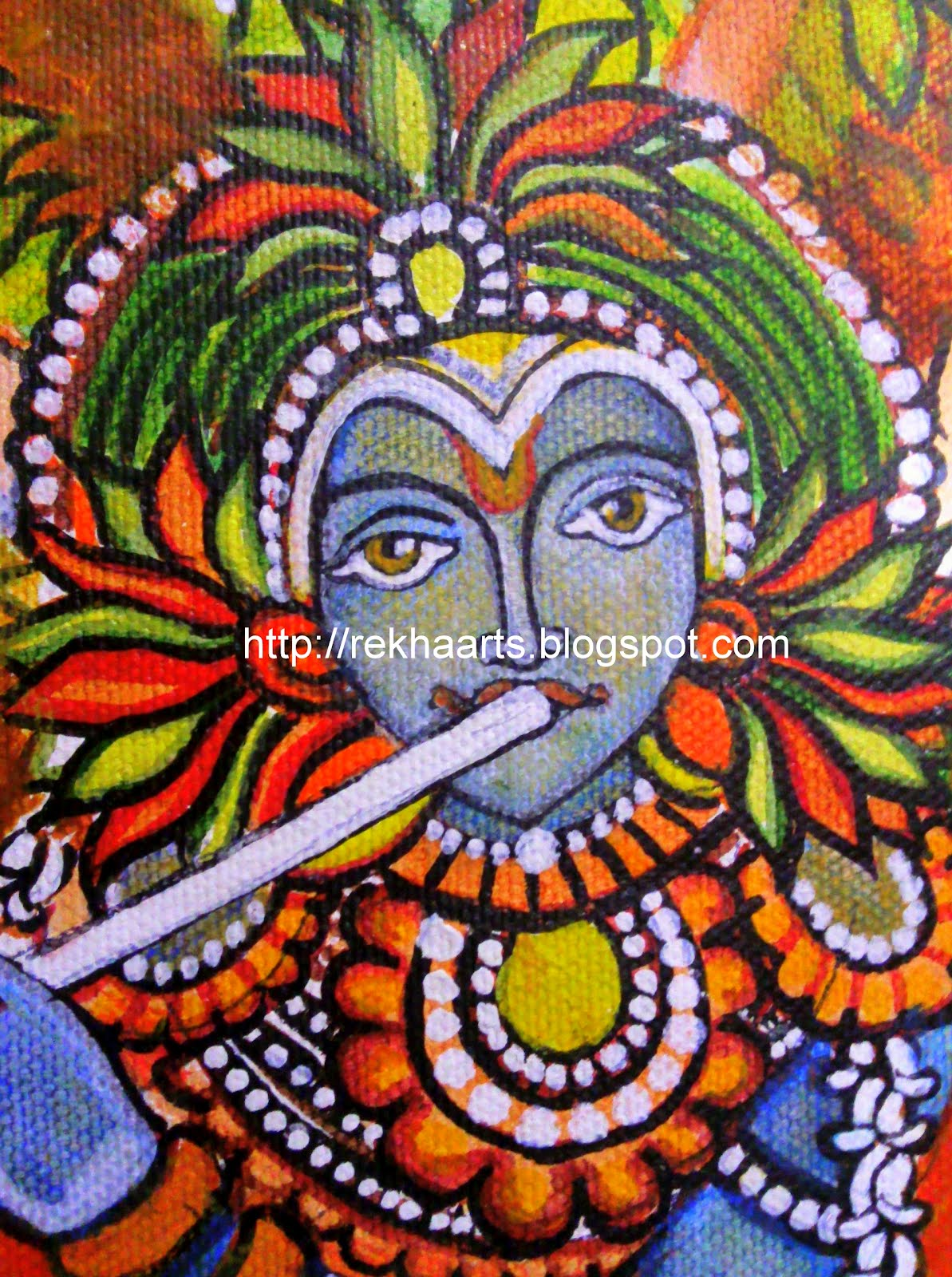 Arts and crafts kerala mural krishna for Arts and crafts mural