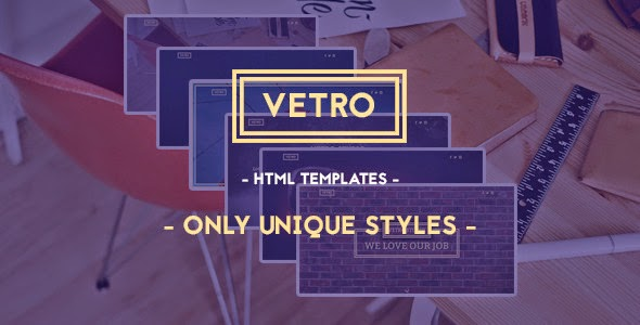 Vetro - Creative HTML5 Template Free Download