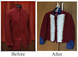 Captain John Hart jacket project Before-and-After.