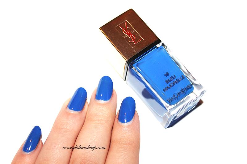 NOTD: La Laque Couture nr 18 Bleu Majorelle - Yves Saint Laurent