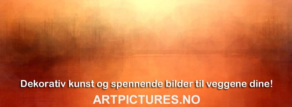Dekorativ kunst – moderne digital fotokunst og veggbilder.