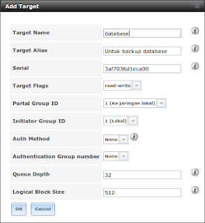 FreeNAS add target iSCSI