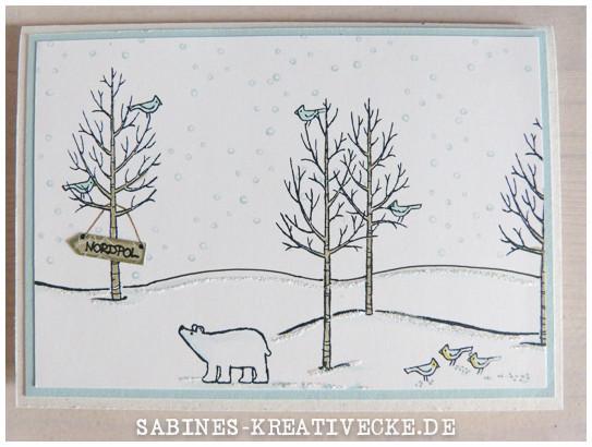 sabines kreativecke wei e weihnacht am nordpol. Black Bedroom Furniture Sets. Home Design Ideas