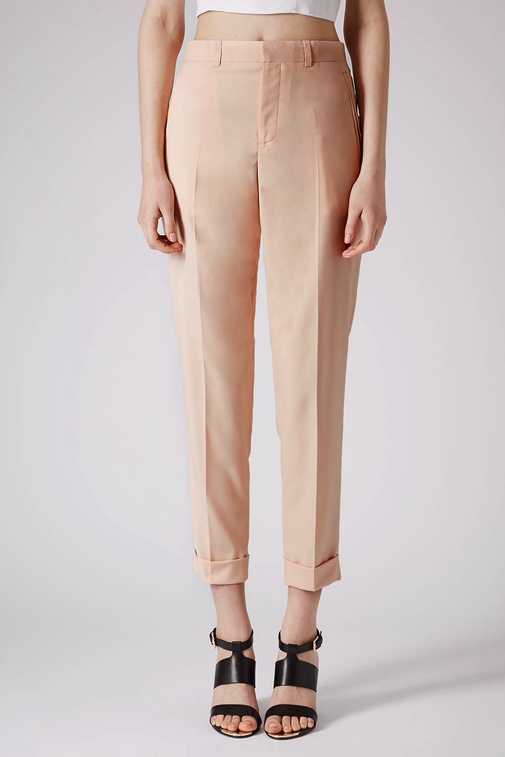 topshop peach trousers