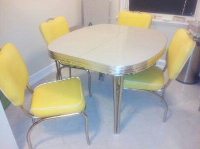 Listed district 250 1950s dining set for District 8 furniture