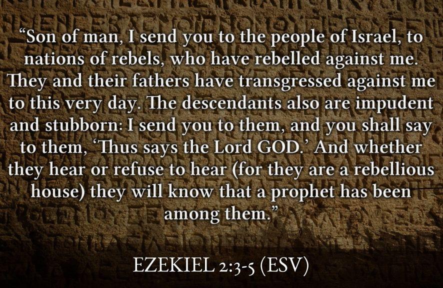 Ezekiel 2:3-5