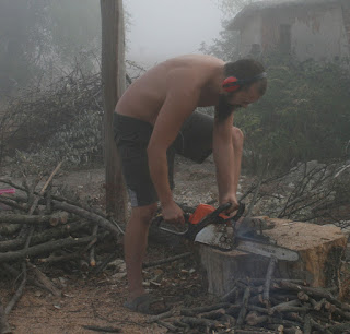 Chopping that wood