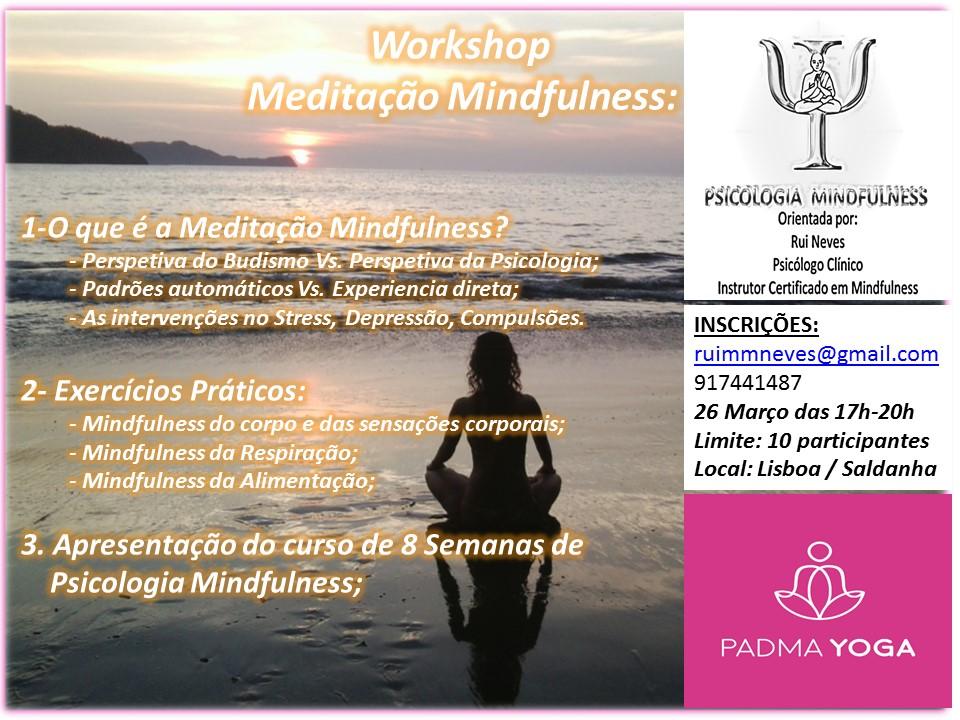 Workshop de Introduçao à Meditaçao Mindfullness