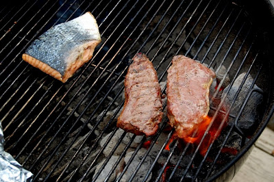 Grilling Lake and Steak - Photo by David Yussen