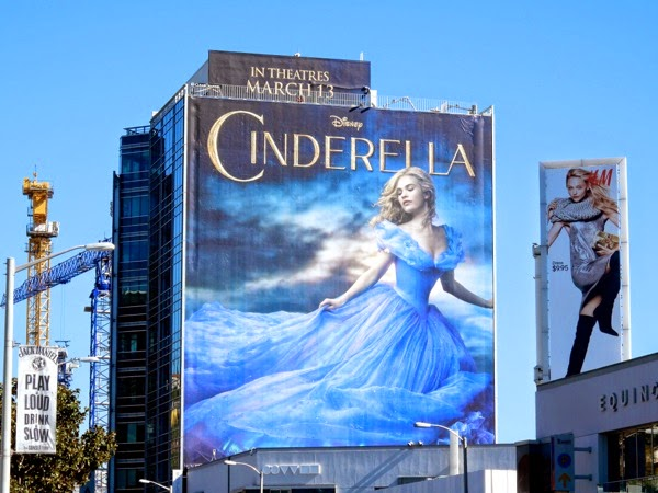 Giant Disney Cinderella movie billboard