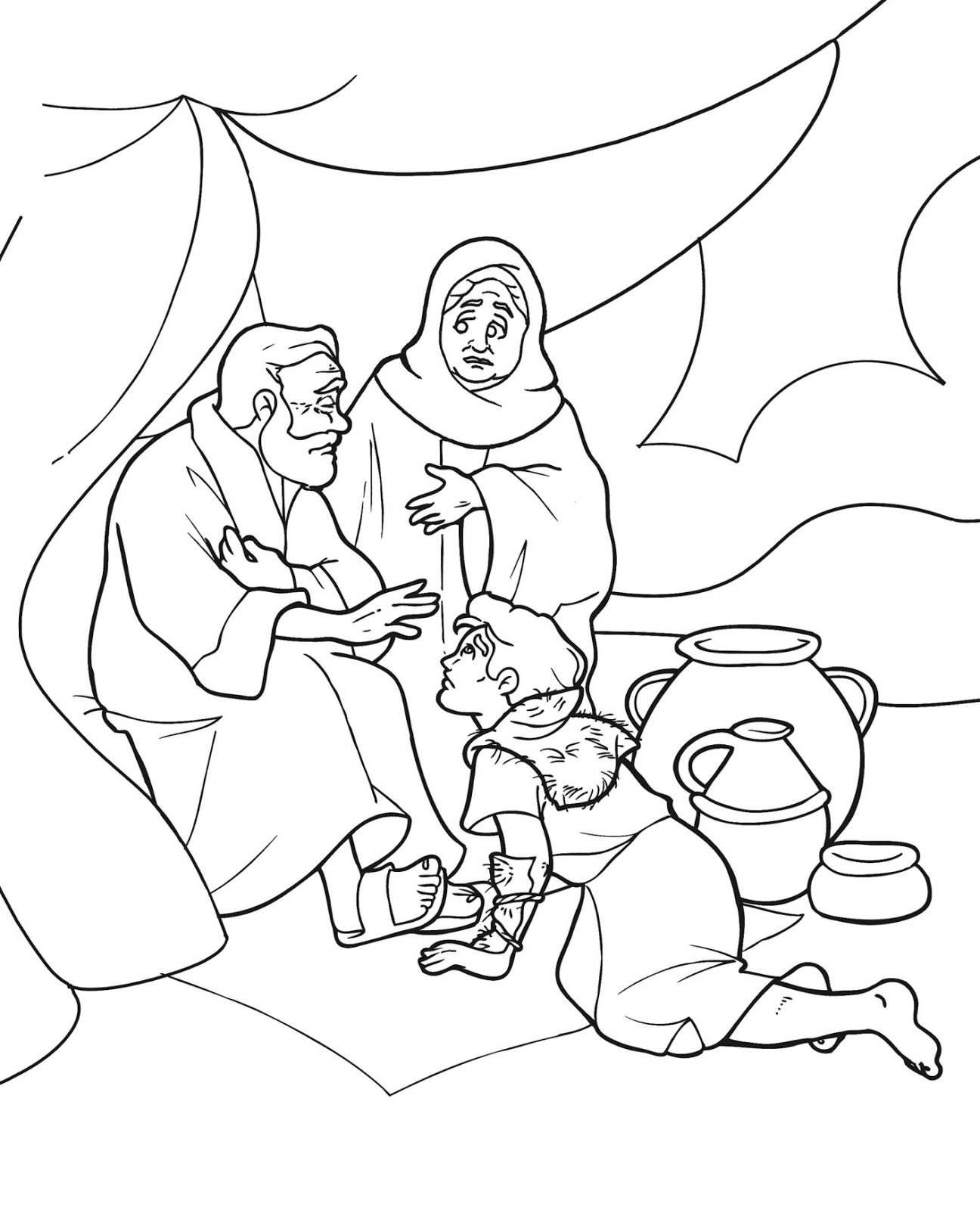 Birth Of Isaac Coloring Page Coloring Pages Isaac Coloring Images