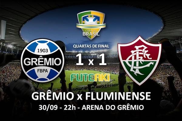 Veja o resumo da partida com os gols e os melhores momentos de Grêmio 1x1 Fluminense pelas quartas de final da Copa do Brasil 2015.