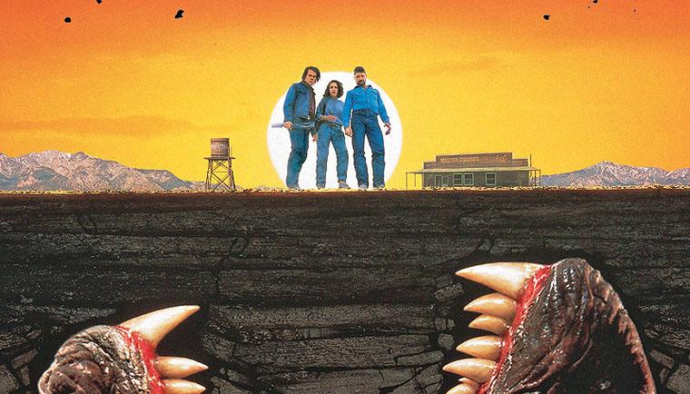 Kinoplakat (Ausschnitt) von TREMORS (1990). Quelle: Universal Pictures