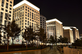 Oriental Plaza at night