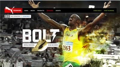 dae702cff9 Outra cena memorável que imortalizou a marca PUMA ocorreu recentemente  o  jamaicano Usain Bolt se agacha