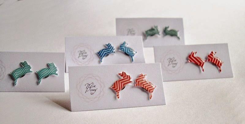 Rabbit earrings by Mia Peony