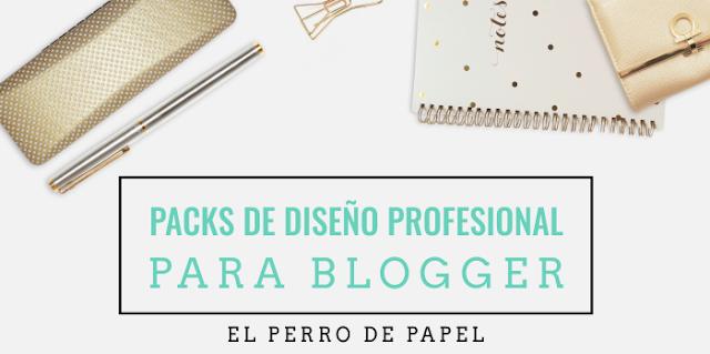 Pack de diseño profesional y express para blogger