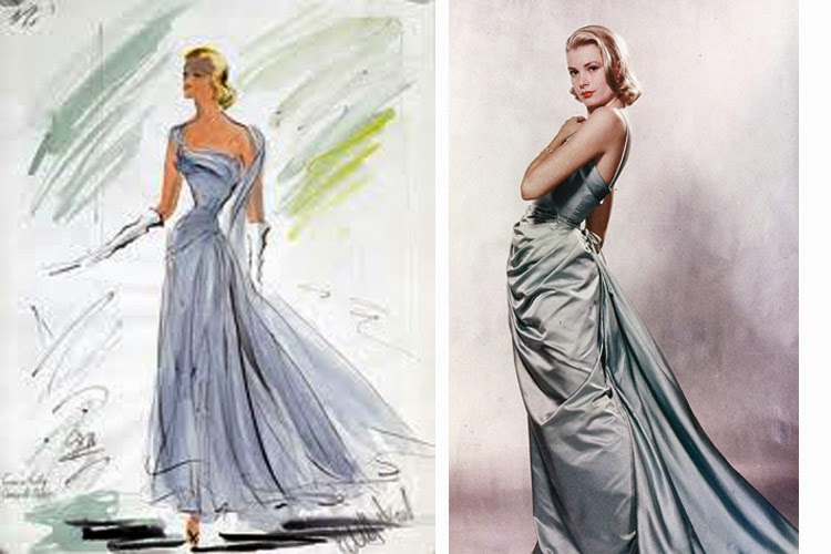 Grace Kelly Dress Blue