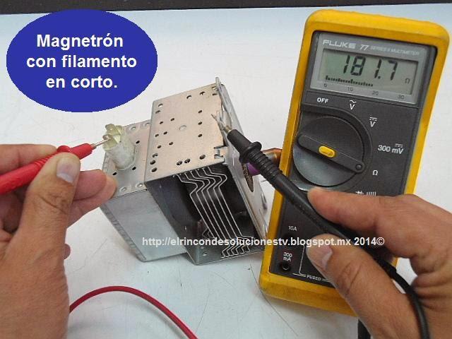magnetrn daado por un entre el filamento y tierra