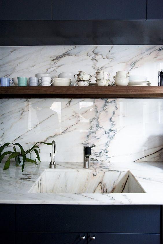 La Fabrique à Déco: Evier de cuisine : marbre, bois, matières brutes ...