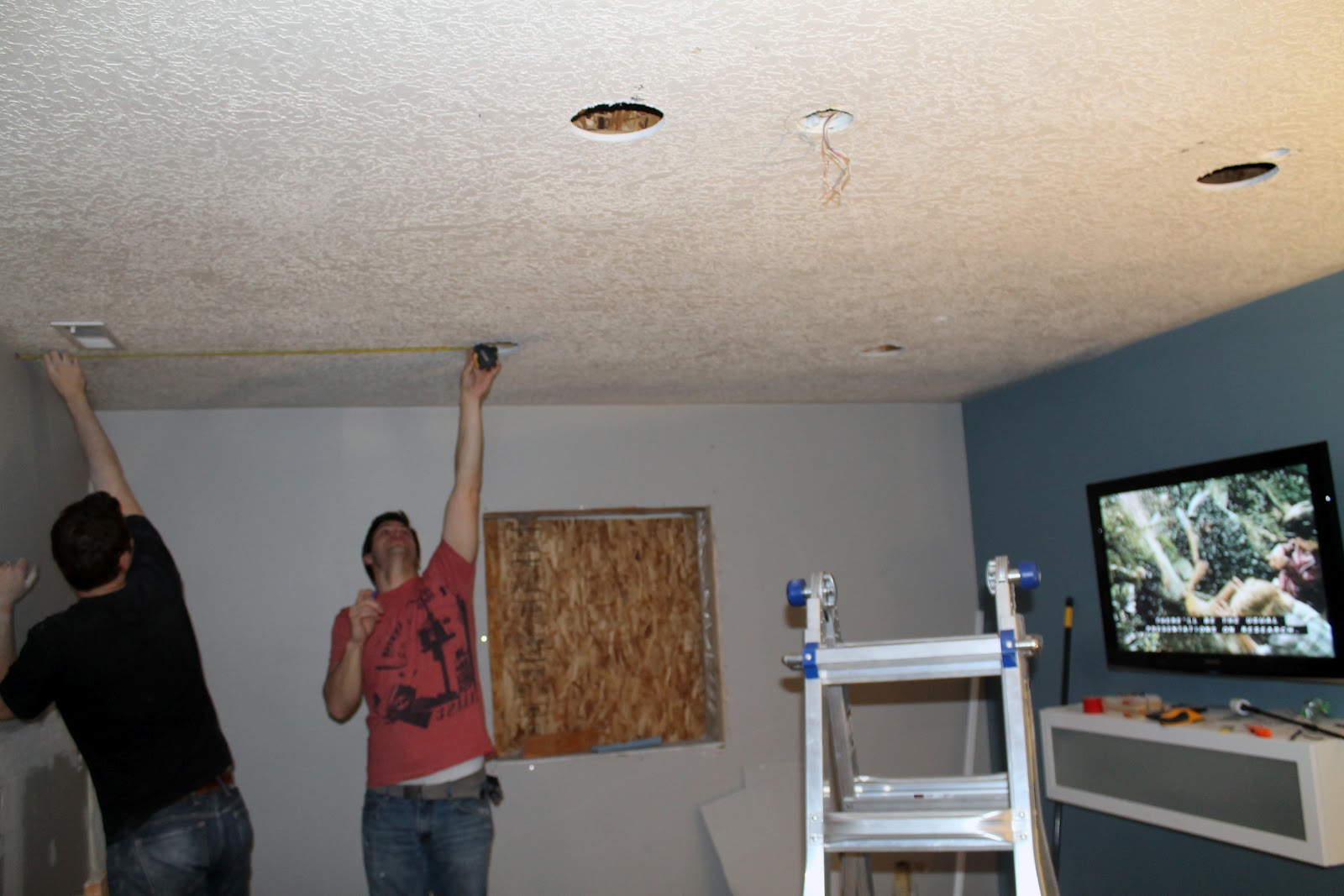 The great do your own recessed lighting post chris for Fishing wire through ceiling