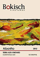 label of Bokish Winery Albarino wine