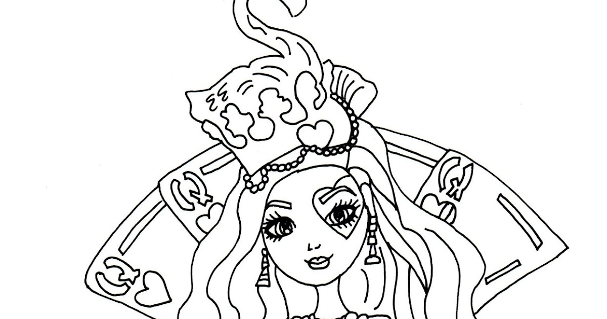 Free Printable Ever After High Coloring Pages Lizzie Hearts Way Too Wonderland Ever After High