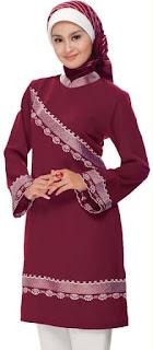 blus muslim cantik modern
