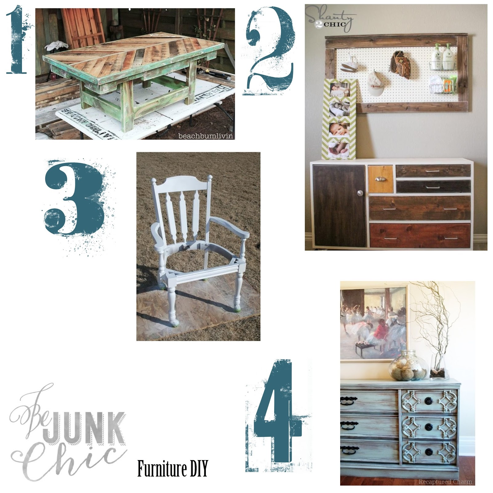 Be junk chic four diy furniture projects for Skilled craft worker makes furniture art etc