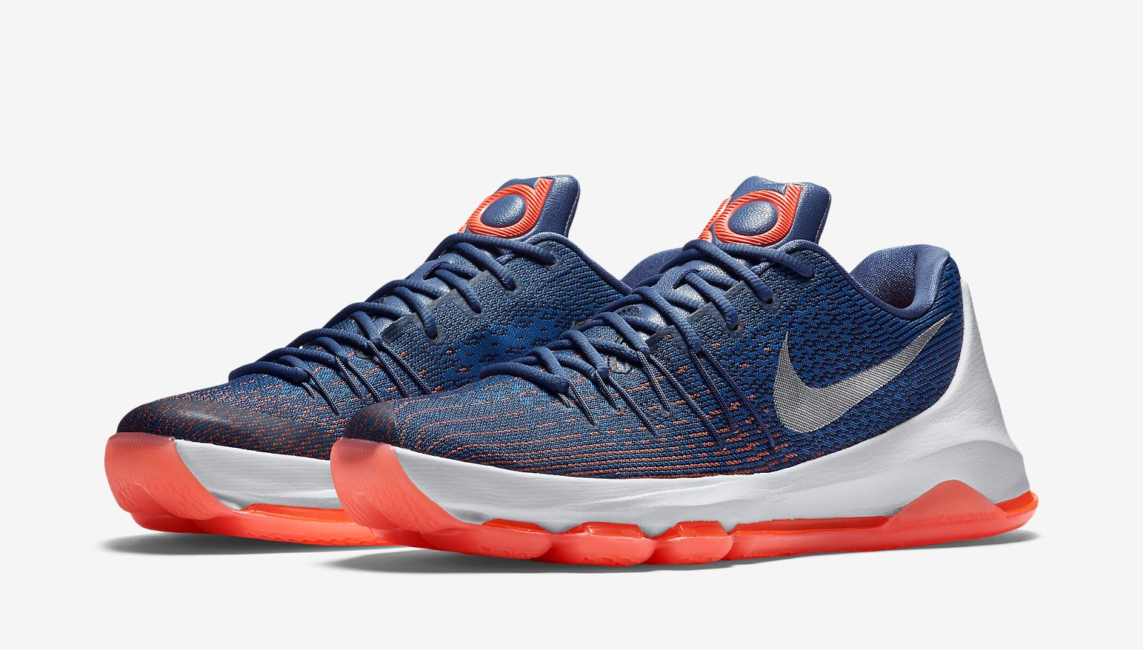 Another Oklahoma City Thunder-inspired colorway of the Nike KD 8. This pair  comes in ocean fog ccac7a27e