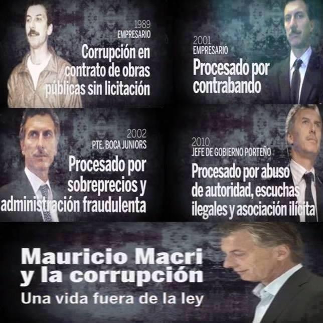 Resultado de imagen para macri corrupcion