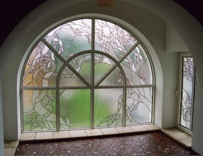 Non-standard windows. A stained-glass window is a decision not for all.