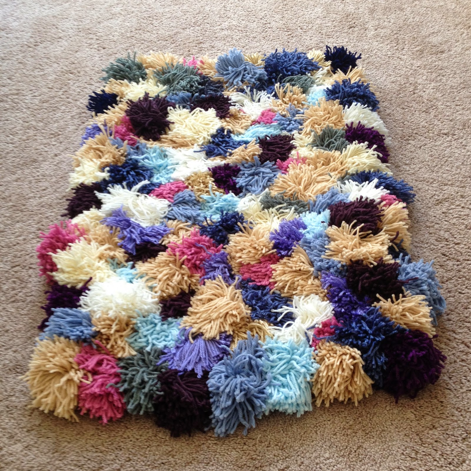 The Crafty Novice Diy Yarn Rug