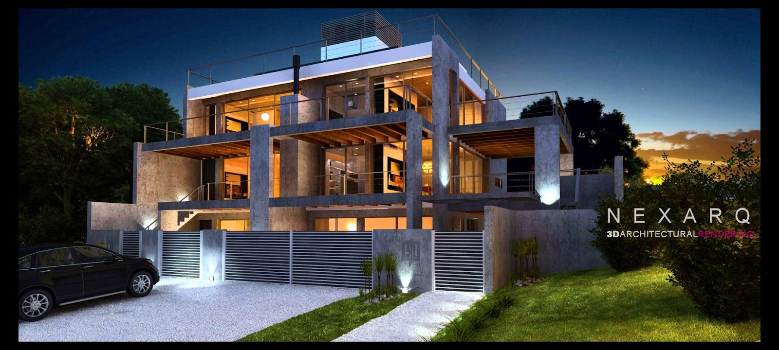 render realista, arquitectura 3D